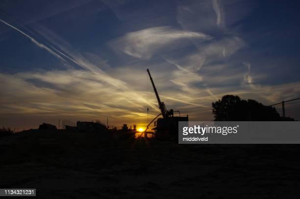 Construction plant at Sunrise
