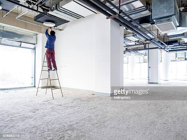 construction project manager - step ladder stock photos and pictures