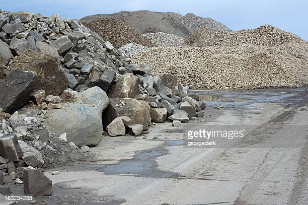construction rubble - gravel stock pictures, royalty-free photos & images