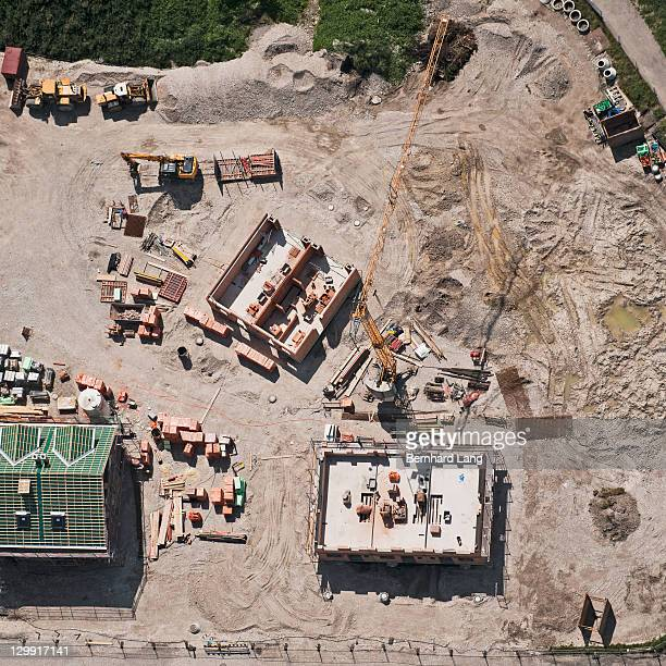 Construction site, aerial view