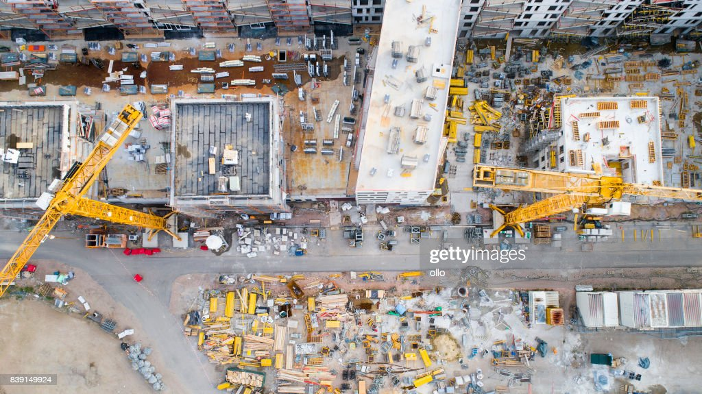 Construction site - aerial view : Stock Photo