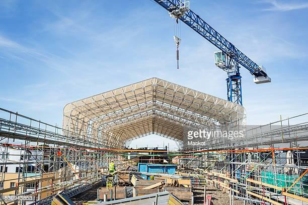 Construction site against sky