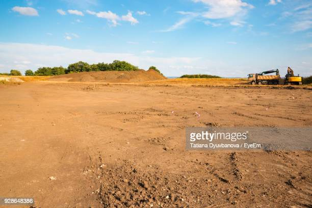 construction site against sky - construction site stock pictures, royalty-free photos & images