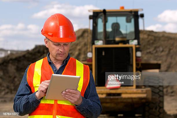 Construction Site and Computer
