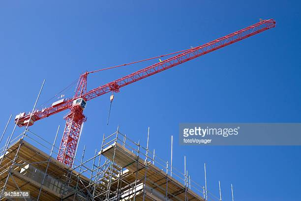Construction site and crane