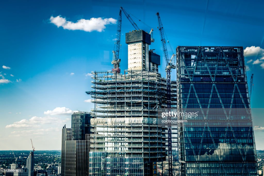 Construction site and development in the city : Stock Photo