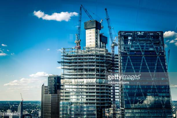 construction site and development in the city - skyscraper stock pictures, royalty-free photos & images