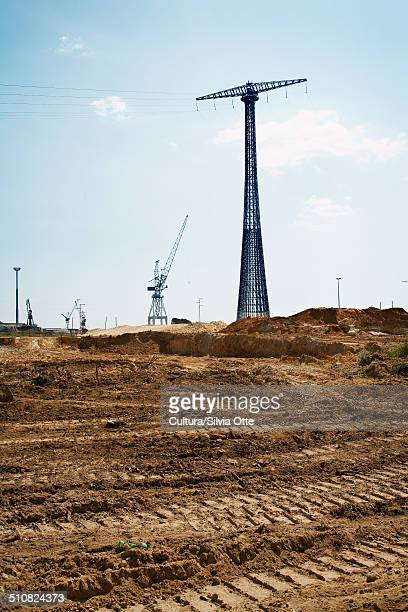 Construction site and power lines