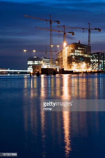 Chantier de Construction au bord de la mer