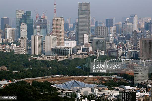 A construction site for a new stadium to replace the National Stadium stands in Tokyo Japan on Monday June 15 2015 Tokyo is one of only four cities...