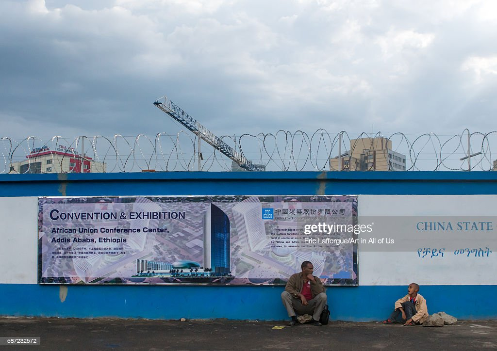 Construction site for new building with chinese cooperation