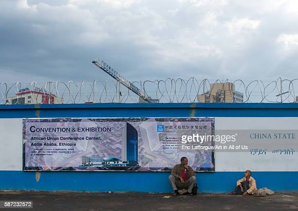 Construction site for new building with chinese cooperation addis abeba region addis ababa Ethiopia on March 7 2016 in Addis Ababa Ethiopia