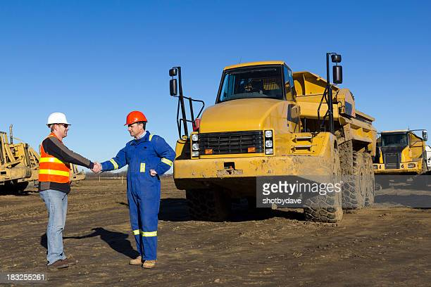 Construction Site Handshake