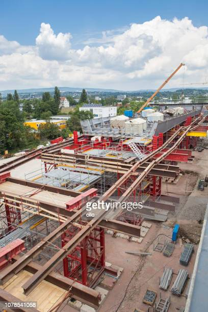 construction site, highway bridge - bridge built structure stock pictures, royalty-free photos & images