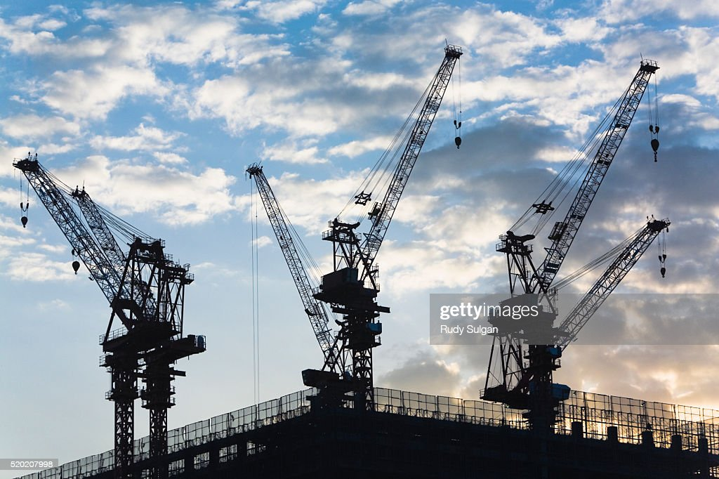 construction site in tokyo ストックフォト getty images