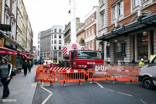 Baustelle in der Wellington Street, London