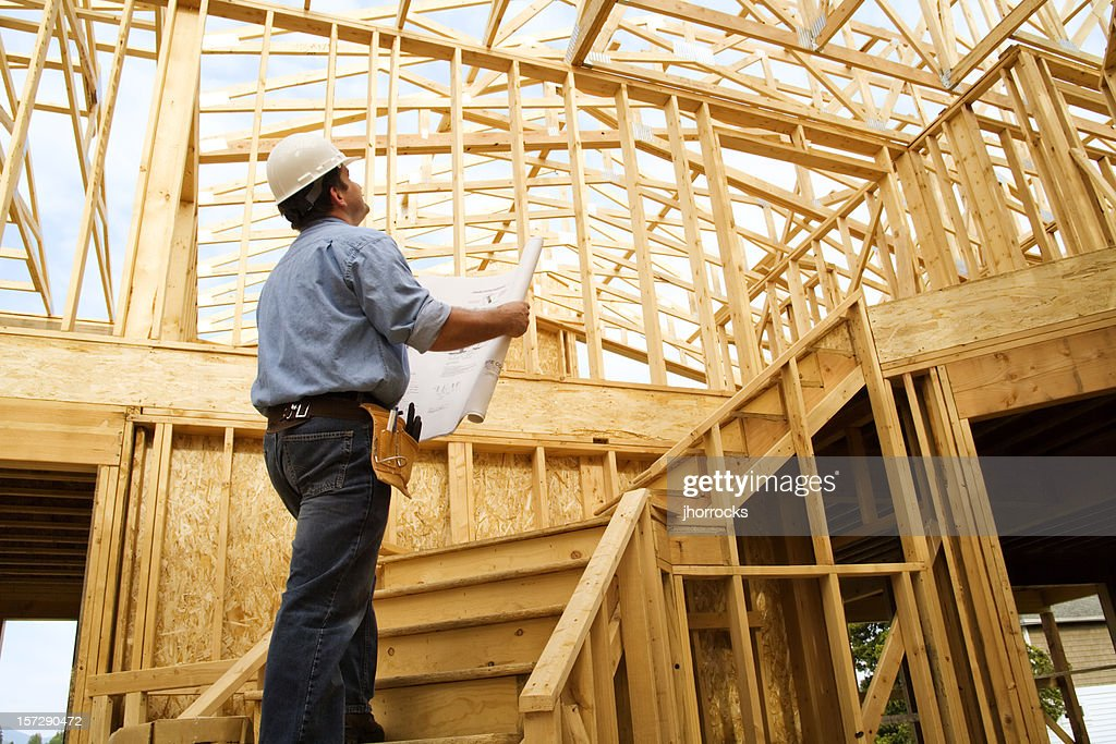 Construction Site Inspection : Stock Photo