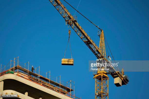 Construction site is pictured on October 28, 2020 in Berlin, Germany.