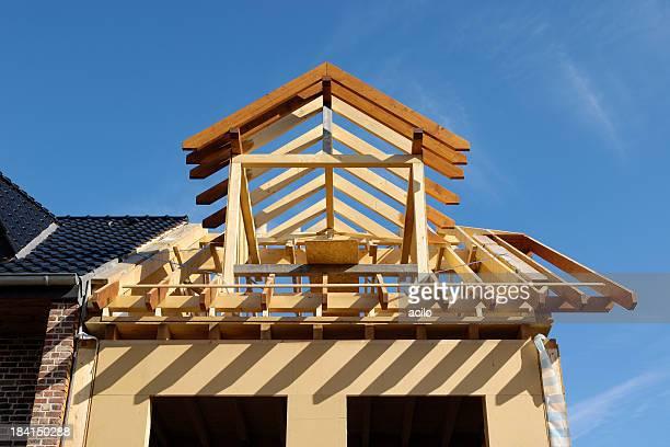 Baustelle eines klassischen eine Familie house