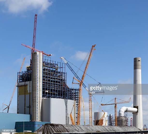 Construction site of a new electric power plant