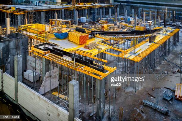 Construction site of a new office building