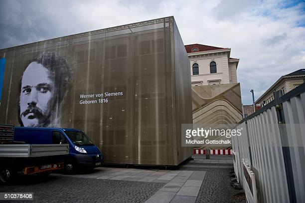 Construction Site of Headquarters of Siemens AG at Wittelsbacher Platz on February 15 2016 in Munich Germany