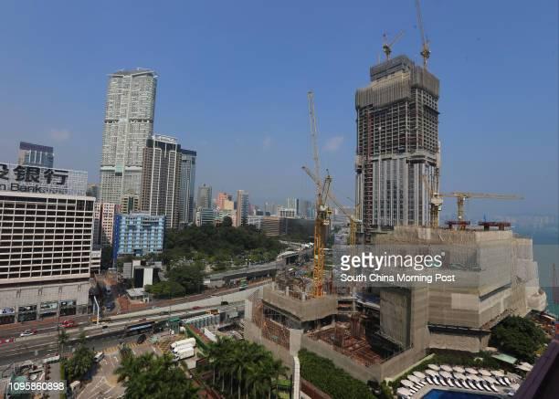 Construction site of New World Centre in Tsim Sha Tsui. 15OCT15