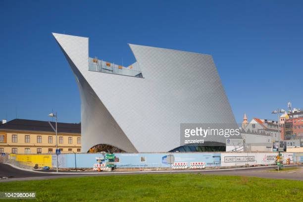 construction site of the landesgalerie niederösterreich - sankt poelten stock pictures, royalty-free photos & images