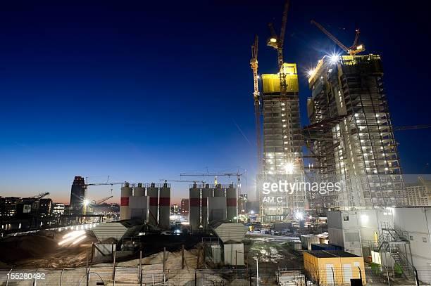 Chantier de Construction de la nouvelle émission, EZB, Europaeische Zentralbank building