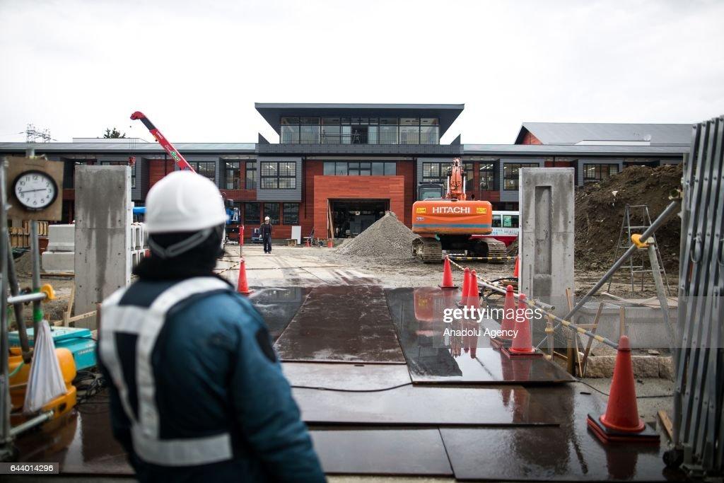 Construction site of Moritomo Gakuen's elementary school in Toyonaka : ニュース写真