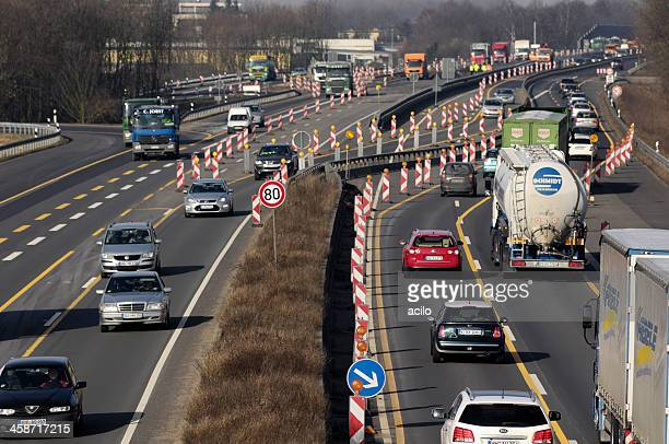 Construction site on a german Highway