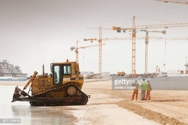 Construction site on Palm Islands in Dubai