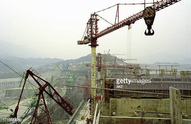 construction site - dam china stock pictures, royalty-free photos & images