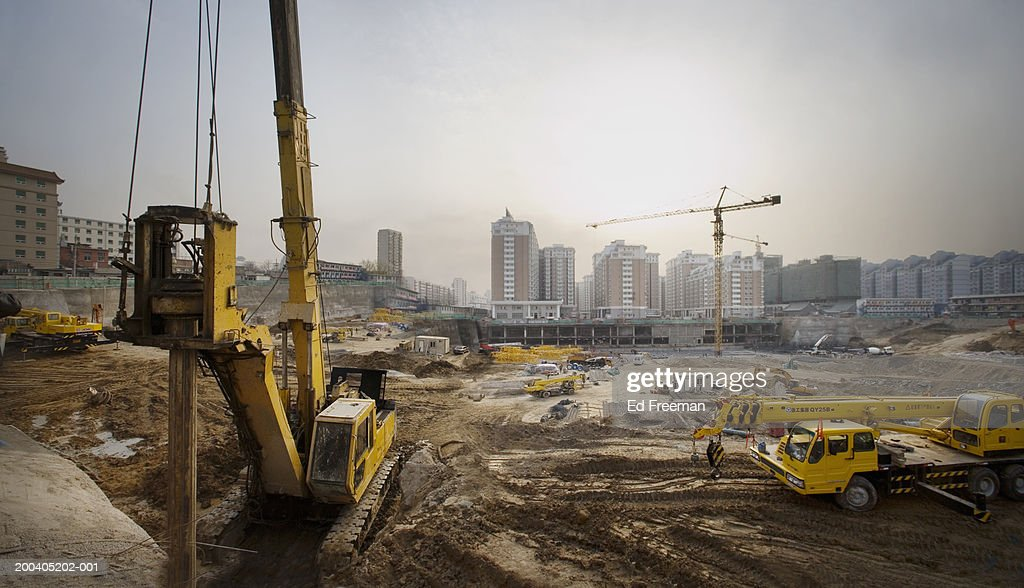 Construction site (digital enhancement) : ストックフォト