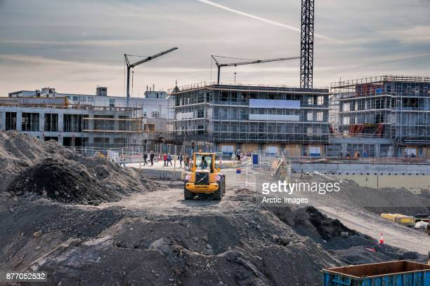 construction site, reykjavik, iceland - construction site stock pictures, royalty-free photos & images
