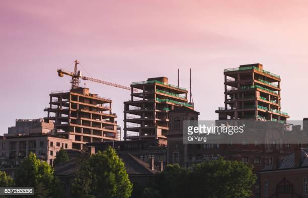 Construction site, Shanghai, China