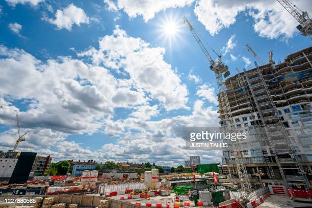 A construction site to build new apartments retail complex and Northern Line Extention is seen at the Battersea Power Station redevelopment site in...