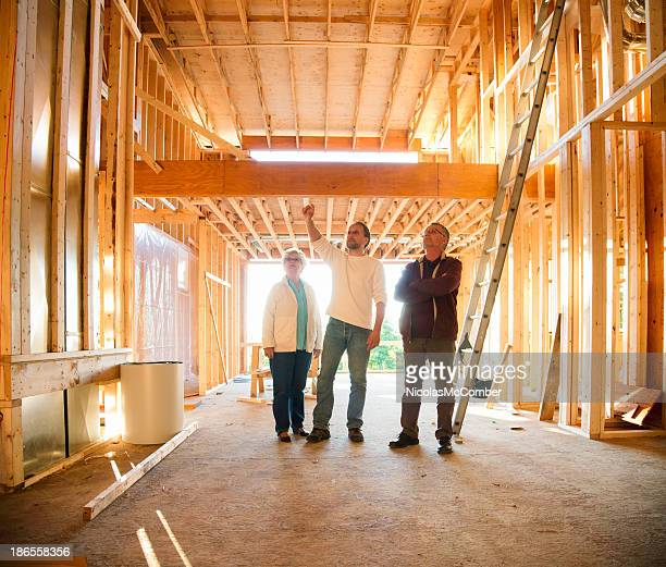 Construction site visit with architect