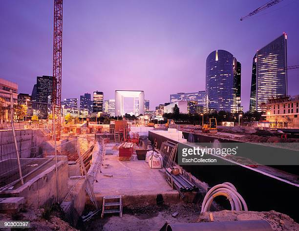 Construction site with in the back La Defense.