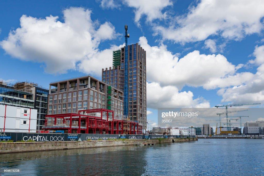 Baustellen in modernen Teil von Dublin Docklands, dockt auch bekannt als Silizium : Stock-Foto