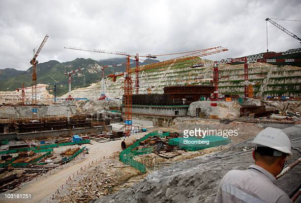 Construction takes place at the China Guangdong Nuclear Power Group Co atomic plant in Taishan Guangdong Province China on Thursday July 29 2010...