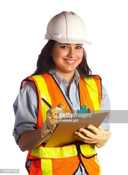 Construction Woman Smiles