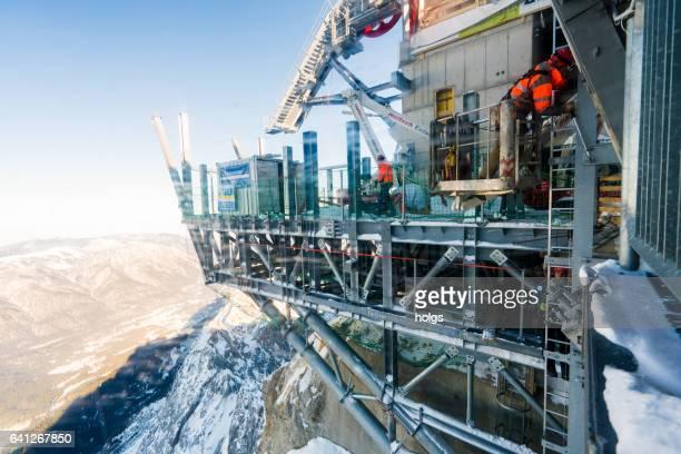 Die Bauarbeiten auf der Zugspitze