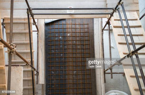 construction work for scaffolding - erection stock photos and pictures