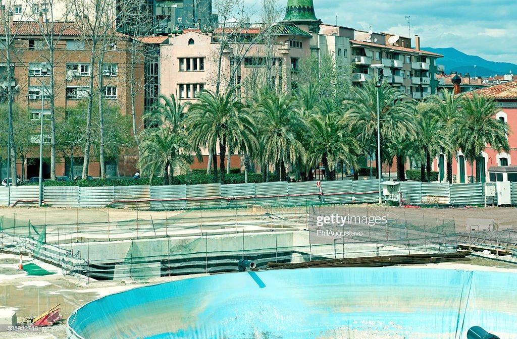 Construction work in Girona SPN : Stock Photo