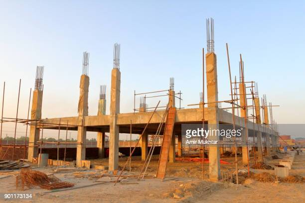 construction work in progress - foundation make up stock pictures, royalty-free photos & images