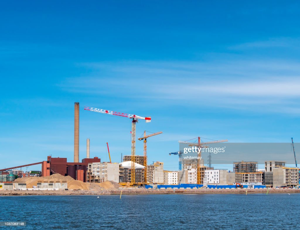 Construction work near Helsinki, Finland : Stock Photo