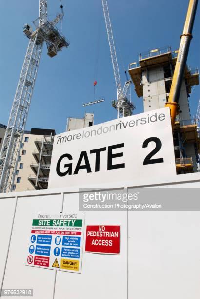 Construction work on an office block as part of the MoreLondonRiverside development London UK