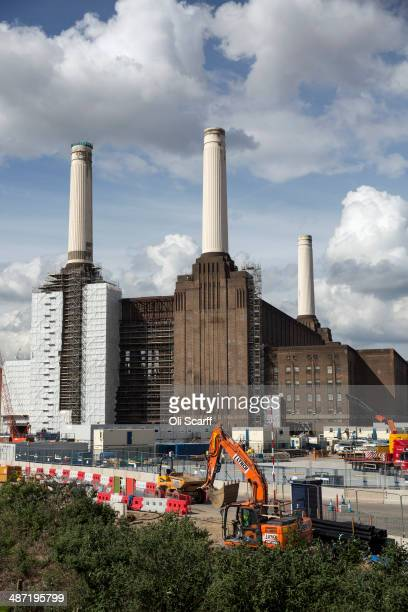 Construction work on the redevelopment of Battersea Power Station takes place on April 28 2014 in London England On May 1 2014 the sale of 254 flats...