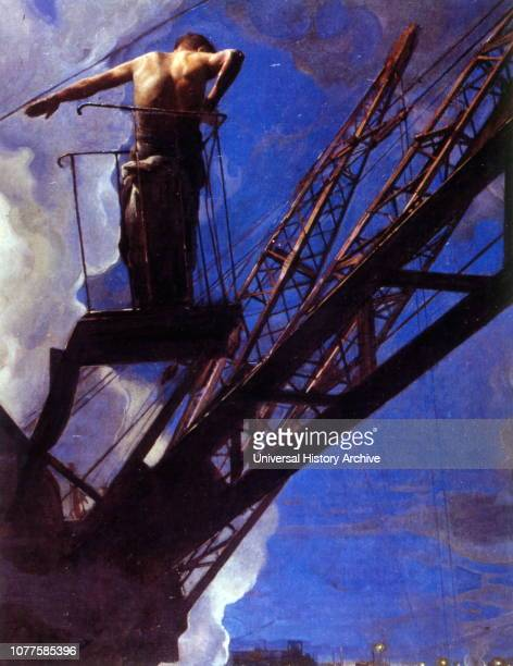 Construction Worker 1932 by Isaak Izrailevich Brodsky SovietJewish painter whose work provided a blueprint for the art movement of socialist realism